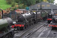 Severn Valley Railway - BR 45110, 43106, 5164, Bridgnorth.