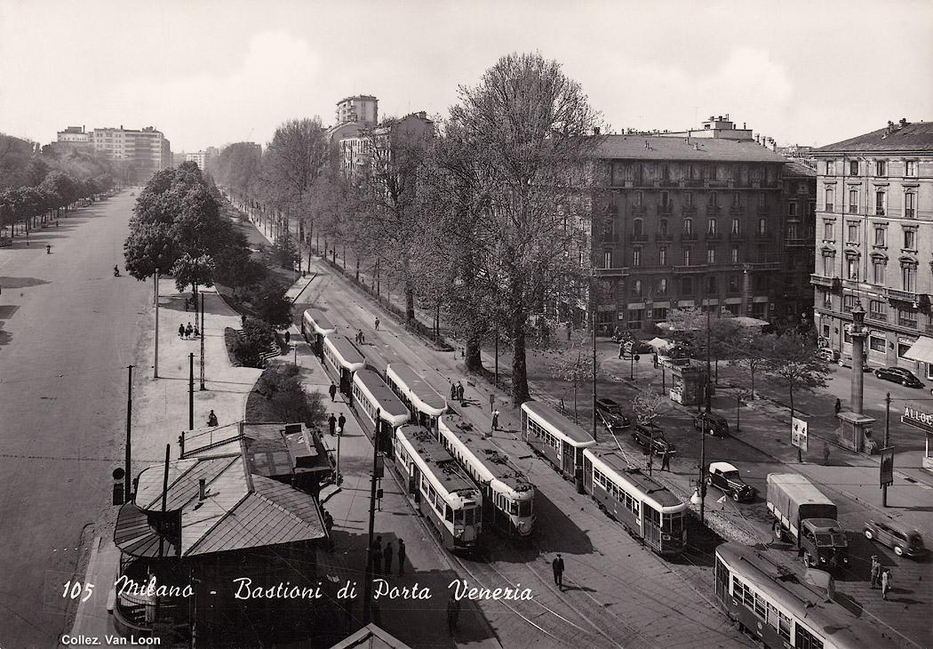 Vera fotografia tram a milano stagniweb - Bastioni di porta venezia ...