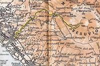 Funicolari del Vesuvio - Mappa 1927.